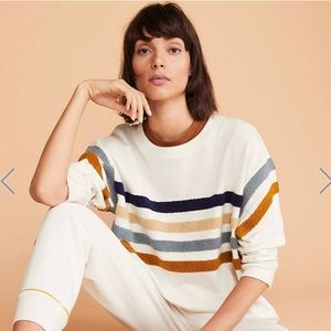 Lou and Grey Fuzzstripe Sweatshirt S